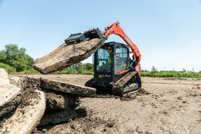 Kubota, Together with Land Pride, Highlight New Concrete Attachments